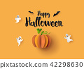 Halloween Party with scary pumpkins 42298630