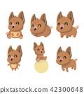 A set of boar vector illustration flat design. 42300648