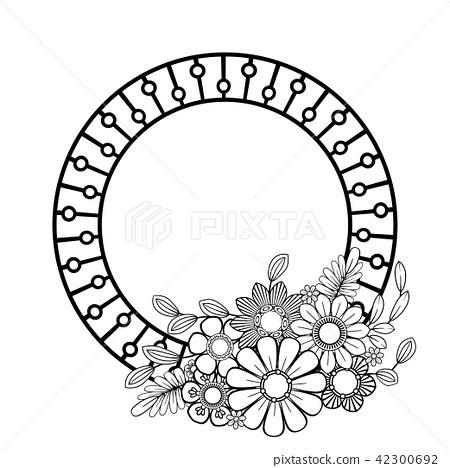 Flowers decorative frame 42300692