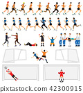 Cartoon character set of soccer man players   42300915