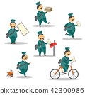 vector, postman, man 42300986
