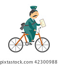 vector, postman, man 42300988