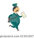 vector, postman, man 42301007