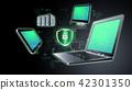 Secure Internet information technology concept 42301350