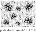 Hand Drawn of Dwarf Whitebeam Fruits Background 42301710