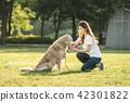 개, 애완동물, 여자 42301822