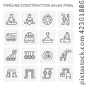 pipeline construction icon 42301886