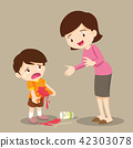 boy stained at the shirt with mom forgive 42303078