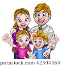 Cartoon Parents and Children 42304364