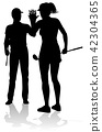 Golfer Golf Sports People in Silhouette 42304365
