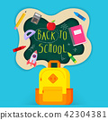 back to school sale banner, poster, flat design 42304381