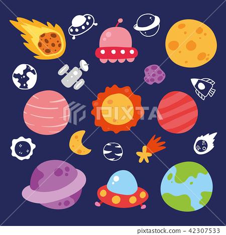 planet vector collection design 42307533