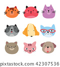 dog and cat character vector design 42307536