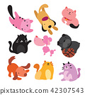 dog and cat character vector design 42307543