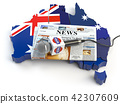 Australian news, press and  journalism concep 42307609