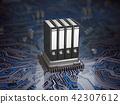 Database  archive data storage concept.  42307612
