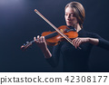 violin, woman, female 42308177