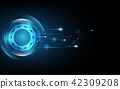 Abstract technology background Hi-tech 42309208