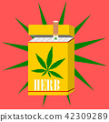 cigarette herb with green herb logo 42309289