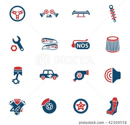 auto tuning icon set 42309558