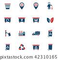 icon vector garbage 42310165