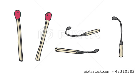 Matchstick Vector icon logo cartoon illustration 42310382