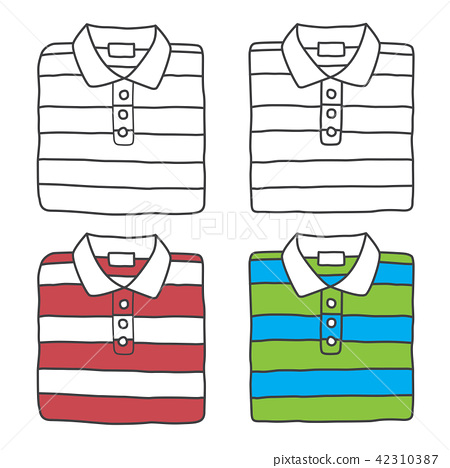 polo shirt icon vector logo t shirt cartoon stock illustration 42310387 pixta polo shirt icon vector logo t shirt