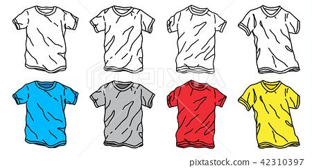 T-shirt vector icon logo tee shirt doodle cartoon 42310397