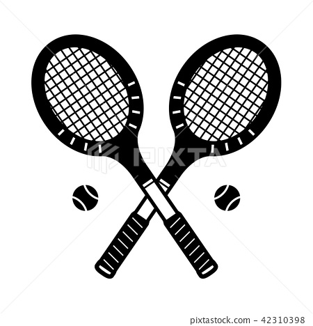 Tennis racket vector icon badminton logo cartoon 42310398
