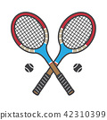 Tennis racket vector icon badminton logo cartoon 42310399