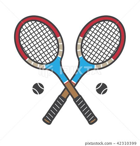 Tennis racket vector icon badminton logo cartoon 42310399