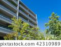 아파트 · 푸른 하늘과 초록 42310989