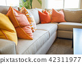 Abstract of Inviting Colorful Couch Sitting Area in House 42311977