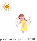 孩子的例證有中暑孩子的 42312300