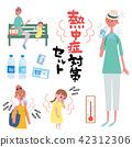 母親的孩子例證集合措施反對中暑 42312306