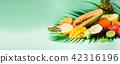 tropical fruit summer 42316196