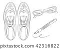 Men's Business Item Business Shoes Glasses Fountain Pen Illustration 42316822