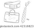 Men's Business Item Bag Belt Necktie Illustration 42316823