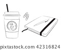 Caffe latte note pen clip illustration 42316824
