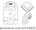 男装 正装衬衣 手帕 42316825