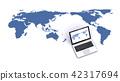 世界地圖和便攜式計算機 42317694