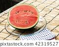 西瓜 水果 橫斷面 42319527