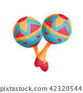 cartoon mexican maracas 42320544