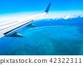 비행기에서 보이는 경치 (이시가키 섬) 42322311