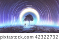 alone tree in outer space 42322732