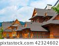 beautiful large European villa made of wood 42324602