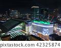 Umeda Osaka Station Night view from Hankyu Grand Building 42325874