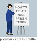 Businessman and presentation screen board 42326062