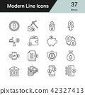 Bitcoin icons. Modern line design set 37. 42327413