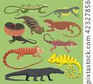vector, lizard, animal 42327856